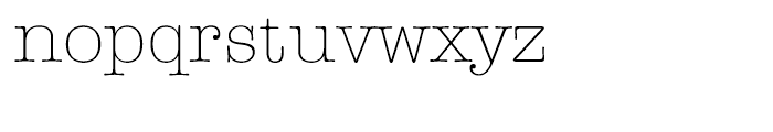 ITC American Typewriter Hellenic Light Font LOWERCASE