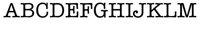 ITC American Typewriter Hellenic Medium Font UPPERCASE