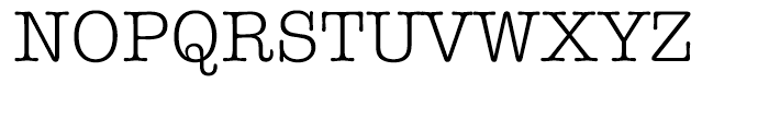 ITC American Typewriter Hellenic Normal Font UPPERCASE