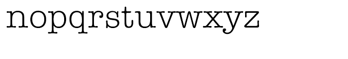 ITC American Typewriter Hellenic Normal Font LOWERCASE