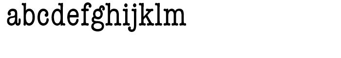 ITC American Typewriter Medium Condensed Font LOWERCASE