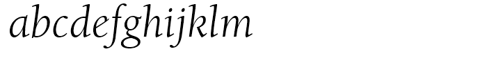 ITC Berkeley Old Style Book Italic Font LOWERCASE