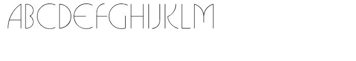ITC Busorama Light Font UPPERCASE