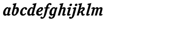 ITC Cushing Bold Italic Font LOWERCASE