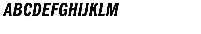 ITC Franklin Gothic Compressed Demi Italic Font UPPERCASE