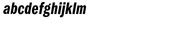 ITC Franklin Gothic Compressed Demi Italic Font LOWERCASE