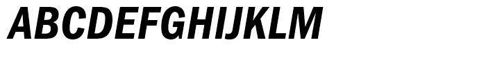 ITC Franklin Gothic Condensed Demi Condensed Italic Font UPPERCASE