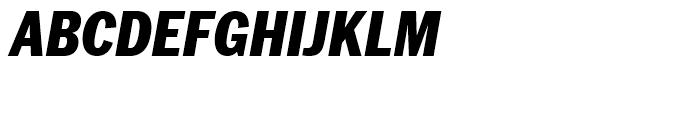ITC Franklin Narrow Black Italic Font UPPERCASE