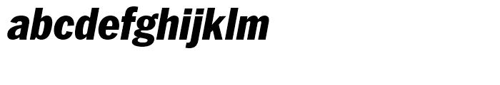 ITC Franklin Narrow Black Italic Font LOWERCASE