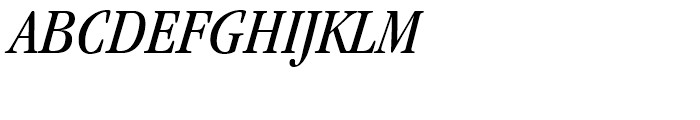 ITC Garamond Book Condensed Italic Font UPPERCASE