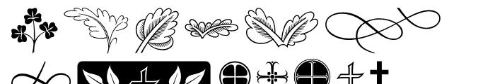 ITC Golden Cockerel Initials  Ornaments Font LOWERCASE