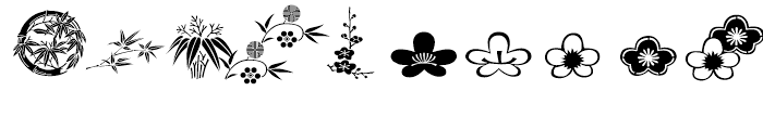 ITC Japanese Garden Ornaments Regular Font OTHER CHARS