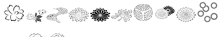 ITC Japanese Garden Ornaments Regular Font UPPERCASE