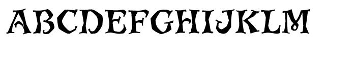 ITC Jiggery Pokery Regular Font UPPERCASE