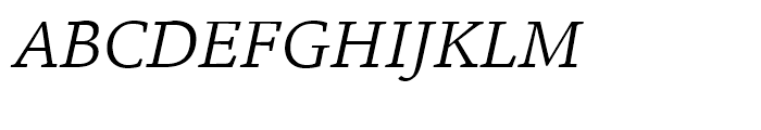 ITC Legacy Square Serif Book Italic Font UPPERCASE