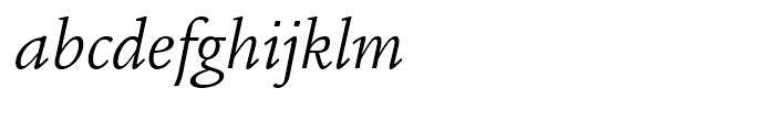 ITC Legacy Square Serif Book Italic Font LOWERCASE