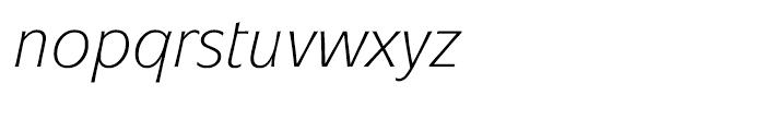 ITC Mixage Book Italic Font LOWERCASE