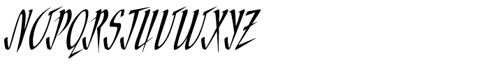 ITC Needlescript Regular Font UPPERCASE