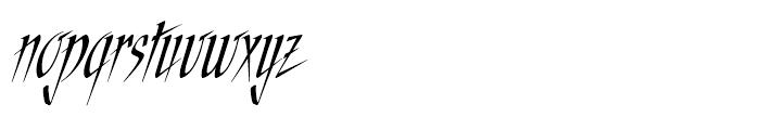 ITC Needlescript Regular Font LOWERCASE