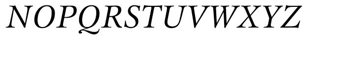 ITC New Esprit Italic Font UPPERCASE