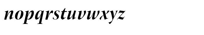 ITC New Veljovic Display Bold Italic Font LOWERCASE