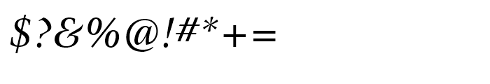 ITC New Veljovic Italic Font OTHER CHARS