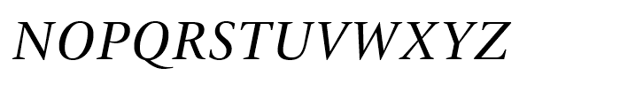 ITC New Veljovic Italic Font UPPERCASE