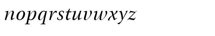 ITC New Veljovic Italic Font LOWERCASE