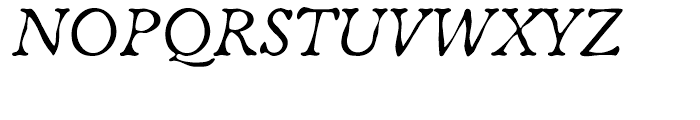 ITC Oldbook Italic Font UPPERCASE