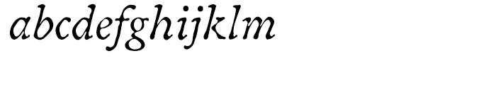 ITC Oldbook Italic Font LOWERCASE