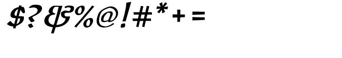 ITC Oldrichium Demi Italic Font OTHER CHARS