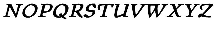 ITC Oldrichium Demi Italic Font UPPERCASE