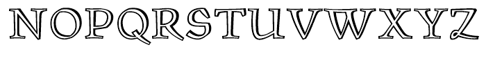 ITC Oldrichium Engraved Font UPPERCASE