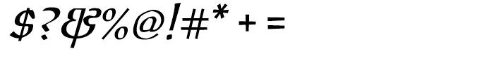 ITC Oldrichium Italic Font OTHER CHARS