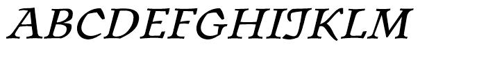 ITC Oldrichium Italic Font UPPERCASE