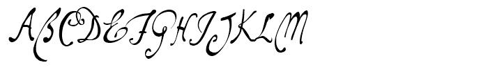 ITC Santangeli Regular Font UPPERCASE