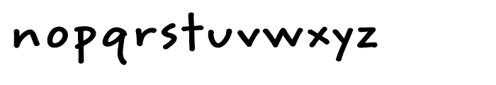 ITC Weber Hand Bold Font LOWERCASE