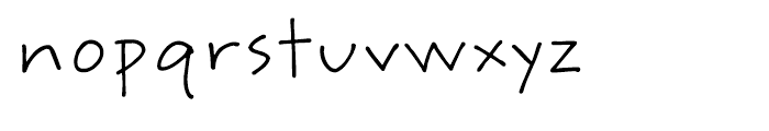 ITC Weber Hand Regular Font LOWERCASE