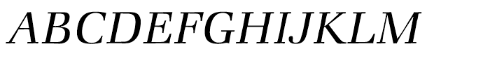 ITC Zapf Book Light Italic Font UPPERCASE