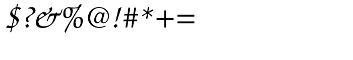 ITC Zapf Chancery Italic Font OTHER CHARS