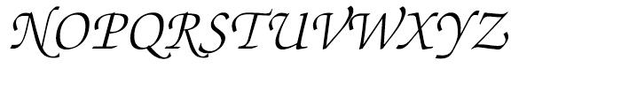 ITC Zapf Chancery Light Italic Font UPPERCASE