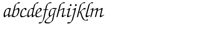 ITC Zapf Chancery Light Italic Font LOWERCASE