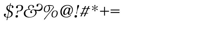 ITC Zapf International Light Italic Font OTHER CHARS