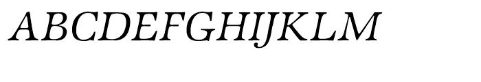 ITC Zapf International Light Italic Font UPPERCASE