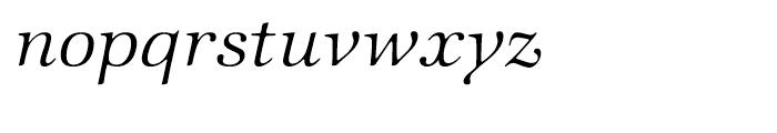 ITC Zapf International Light Italic Font LOWERCASE