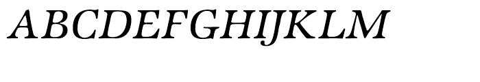 ITC Zapf International Medium Italic Font UPPERCASE