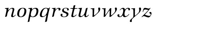 ITC Zapf International Medium Italic Font LOWERCASE