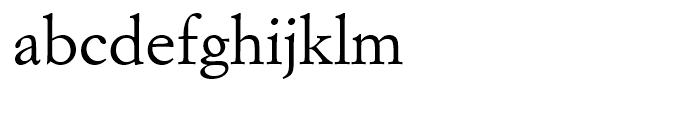 Italian Garamond Roman Font LOWERCASE