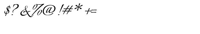 Italianno Regular Font OTHER CHARS