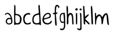 Itchy Handwriting Regular Font LOWERCASE